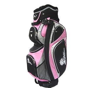 PALM SPRINGS GOLF Pink/Grey 14 Way Full Length Divider Cart Bag
