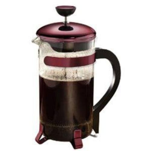 Primula 8-Cup Classic Coffee Press, Metallic Red
