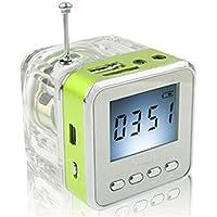Haoponer Portable Mini Digital Display Screen Speaker USB Flash Drive Micro SD TF Card Music MP3 Player FM Radio... - B010AUWH8M