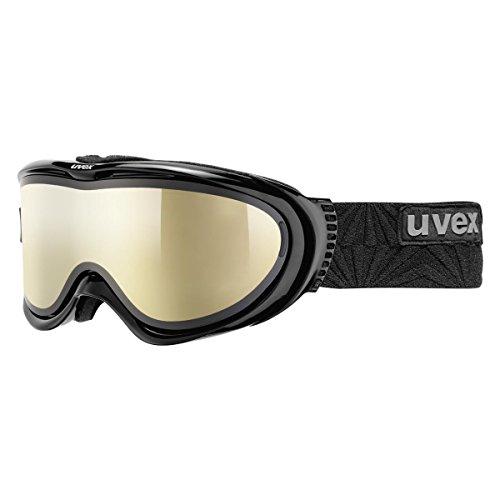 UVEX Skibrille comanche TOP, Black/Ltm Gold, One size, S5512112026