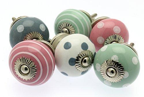Set misto di pomelli per cassetti e comodini in ceramica - Pomelli ceramica per cucina ...