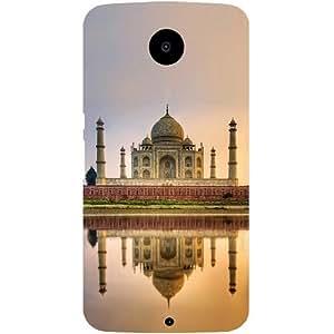 Casotec Taj Mahal Design Hard Back Case Cover for Motorola Nexus 6