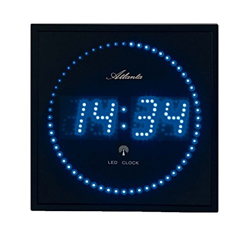 4312 Wanduhr Digital, 28 x 28 cm LED blau funk