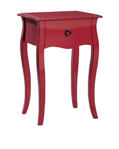 Gallerie Décor Lido Single Drawer Accent Cabinet, Red