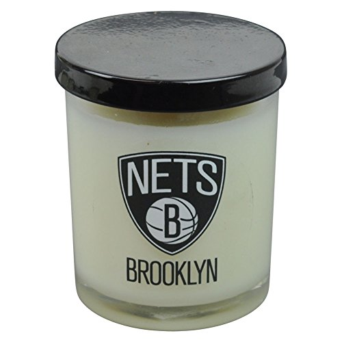 NBA Brooklyn Nets Scented 3 Inch Glass Candle Basketball Gift Decorator Decor