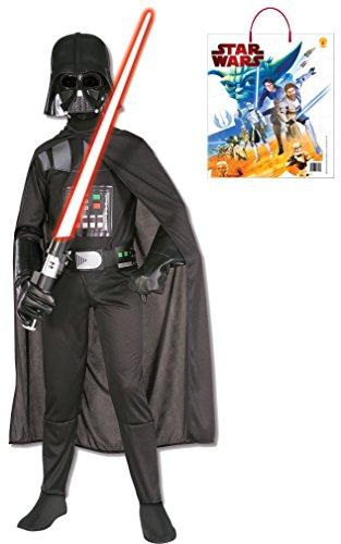 Rubie's Costume Star Wars Darth Vader Costume & Accessories Bundle, Multicolor, Medium (Darth Vader Halloween Costume Kids)