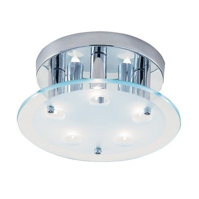 Dallas Semi Flush Chrome And Glass Fitting 7X40 G9 Halogen Lamps