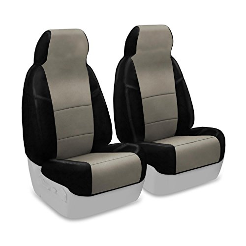 Coverking Front 50/50 Bucket Custom Fit Seat Cover For Select Acura Tsx Models - Alcantara (Beige) front-1056813