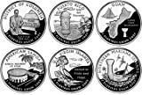 All 6 United States 2009 P Mint District of Columbia & U.S Territories Quarters Set Six Uncirculated Coins