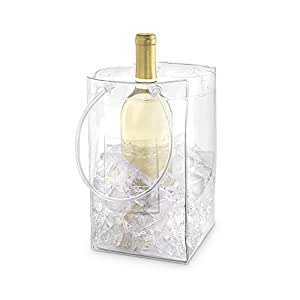 The Chiller: Wine Chiller and Ice Bucket, Ice Bag Carrier with Handles for White Wine, Champagne, Cold Beer and Chilled Beverages
