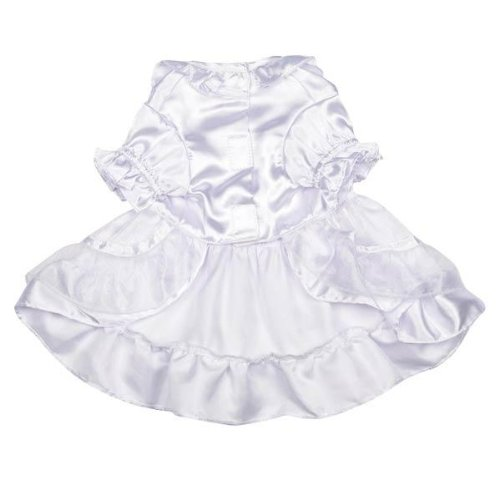 Yappily Ever After Dog Wedding Dress - White, Medium
