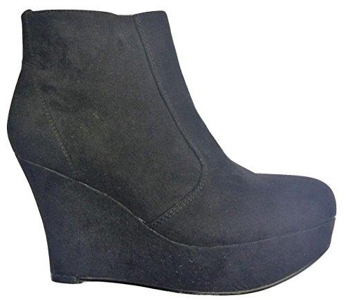 Dune (Head Over Heels Stivali alla Caviglia con Zeppa Cm, Nero (nero), 41 EU (EU 41)