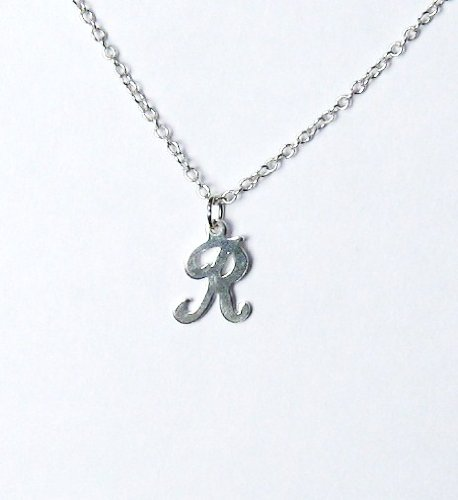 Midor925 925 Sterling Silver Childrens Initial Pendant Necklacemd00165 NIn Gift Box