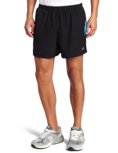 New Balance New Balance Men's 5-Inch Run Short (Kinetic Blue, Large)