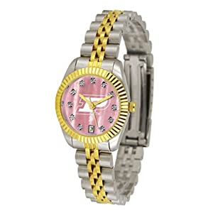 Purdue Boilermakers NCAA Mother of Pearl Executive Ladies Watch by SunTime