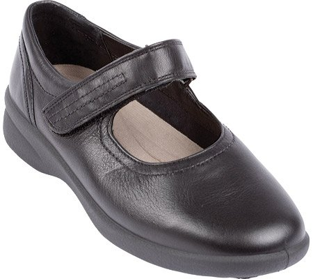 Padders Women's Sprite Mary Janes,Black Leather,6.5 UK