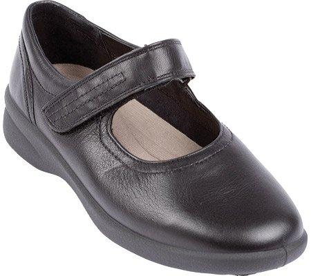 Padders Women's Sprite Mary Janes,Black Leather,6.5 UK