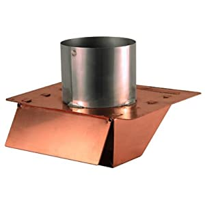 4 copper under eave soffit dryer exhaust vent with