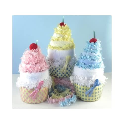 Amazon.com : Baby Diaper Sundae/cake Centerpiece and Gift Set (Pink