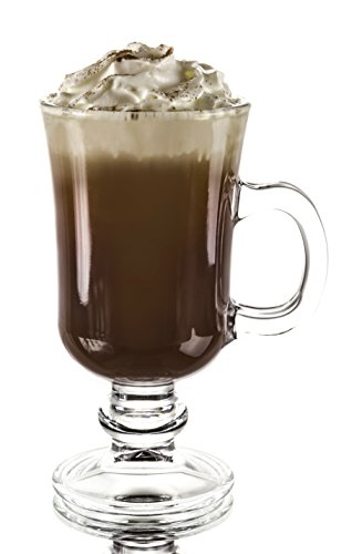 Original Footed Clear Glass Irish Coffee Mug, Set of 6 - 7.75 Ounce (Irish Coffee Set compare prices)