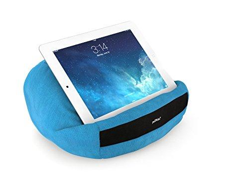 padRelax casual iPad Kissen / Halterung / Tablet Ständer / Stütze / Halter - für Bett, Sofa, Couch, Tisch,.. Top Zubehör für Geräte bis 10.5 Zoll (Apple Air, Samsung Galaxy Tab, eReader) Hellblau