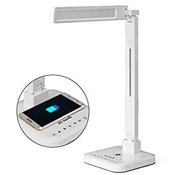 LED Desk Lamp, ThorFire Qi Wireless Charging Dimmer ...