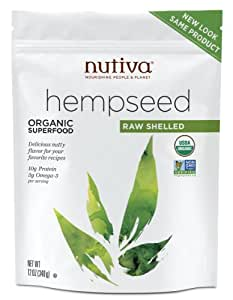 Nutiva Organic Shelled Hemp Seed, 12-oz. Pouches (Count of 2)