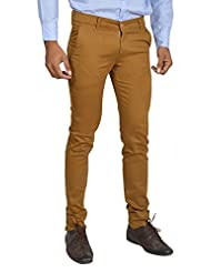 Club Wear Men's Cotton Slim Fit Trousers - B013SZQ6XS
