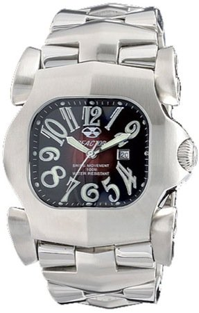 REACTOR Men's 51011 Electron Degrading Red Dial Stainless Steel Limited Edition Watch