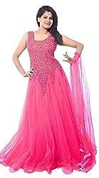 Sanjana Design Women's Net Gown (KS1100_FreeSize_Baby pink net gown)
