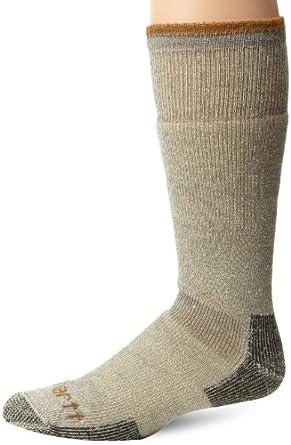 Carhartt Men's Artic Wool Heavy Boot Socks, Heather Grey, Large