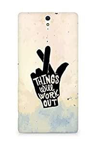 AMEZ things will work out Back Cover For Sony Xperia C5