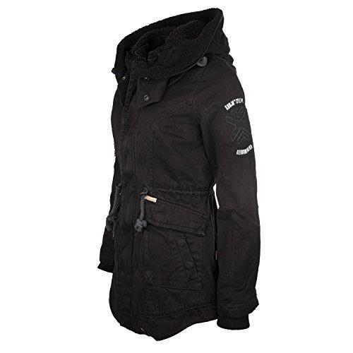 Khujo Havanna giacca invernale cappotto nero-donna in stile Parka-1546jk153-200 nero S