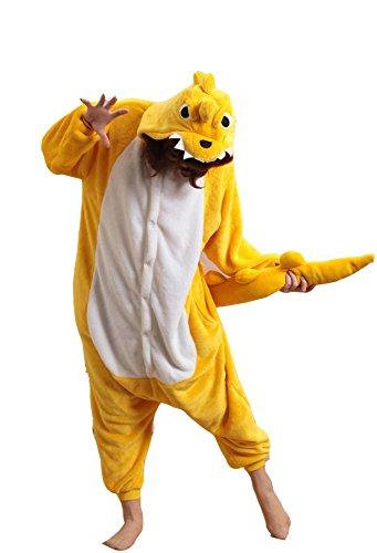 [XMiniLife Yellow Dinosaur Adult Costume Onesie /S] (Spyro The Dragon Halloween Costume)