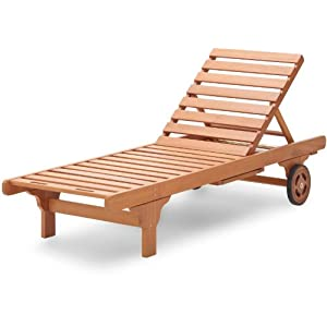 Best sale strathwood basics hardwood chaise lounge in for Best price chaise lounge