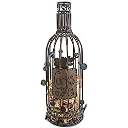 Wine Bottle Cork Holding Cage - Metal Home Decorative Container