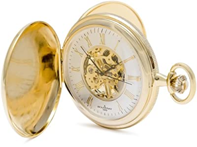 Bouverat 1919 Pocket Watch BV824105 Gold Plated Full Hunter
