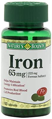 Nature's Bounty Iron 65 Mg., 100 Tablets by Nature's Bounty