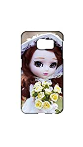 Cute Doll With yellow flowers Case For Samsung Galaxy S6