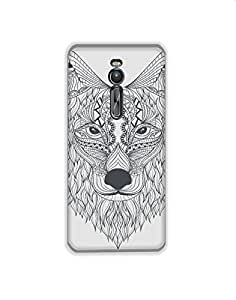Asus Zenfone 2 Laser Hand-drawn-ethnic-wolf-design-01 Mobile Case (Limited Time Offers,Please Check the Details Below)