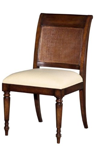 6 New Reproduction Dining Chairs JamaicanRegency Cane Wood Mahogany Fabric Di