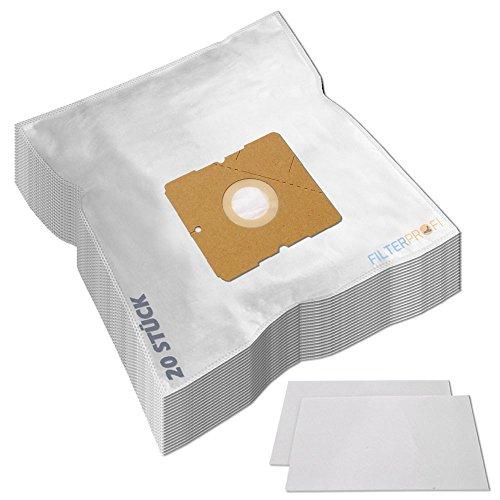 SPARPAKET 20 Staubsaugerbeutel / Staubbeutel / Filtertüten geeignet für AEG / Electrolux AE 3400 bis 3499 Ingenio, AE 3450 / AE3450, AE 3450 Ingenio, AE 3455 Ingenio