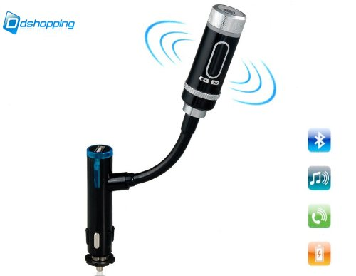 [Ddshopping]Wireless In-Car Bluetooth Fm Transmitter With Usb Function, Charging , Music Control , And Hands-Free Calling For Smartphones , Tablets , Mp3 Players & More!