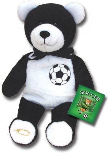 "Holy Bears, Teddy Bear, 8"" Approx Stuffed Animal, Black and White Soccer Athletes Bear. Similarly, If Anyone Competes As an Athlete He Does Not Receive the Victor's Crown Unless He Competes According to the Rules. - 2 Timothy 2:5."