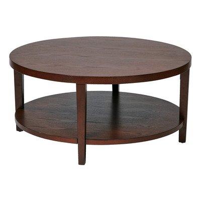 Ave Six Mrg12-Mah Merge Wood Grain Round End Table, 36-Inch, Espresso