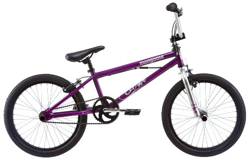 Mongoose 20-Inch Girl's Rave R10 Freestyle Bicycle, Purple