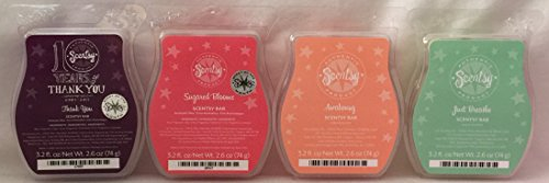 Scentsy Awakening, Just Breathe, Thank You and Sugared Blooms 4 Bar Bundle (Just Breathe Scentsy Wax compare prices)