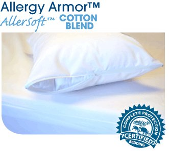 Allergy Armor Allersoft Cotton Blend Mattress Cover- Queen 15