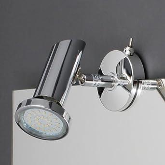 briloner led spiegelleuchte tg2248 018 wandleuchte chrom design bad lampe badleuchte on off. Black Bedroom Furniture Sets. Home Design Ideas