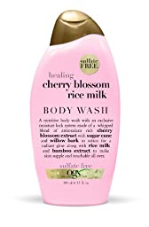 OGX Cashmere Body Wash, Healing Cherry Blossom Rice Milk, 13oz
